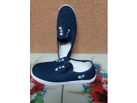 ladies navy shoes.