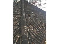 Approx. 1200 Double Roman Clay Roof tiles & Ridge Tiles