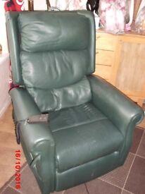 electric riser recliner chair.dark green