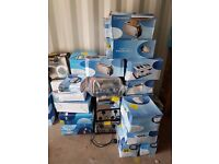 Job lot of new and used home appliances ( toasters, mini oven, heaters, 3 bowl steamers, etc.)