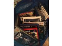 PS2, games and controllers