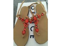 Office flat sandals size 4