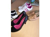 Collection of ladies shoes