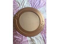 Antique Gold Frame Round Mirror from NEXT
