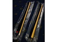 Kids pool cues set of 2 NEW