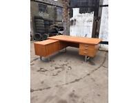 Mid Century Retro Vintage Teak Large L Shape Desk