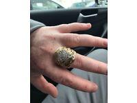 9ct gold saddle ring