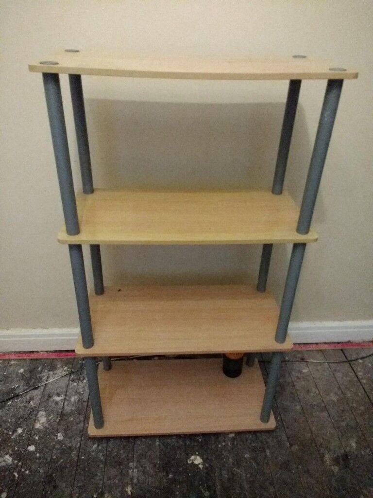 Shelving unit with four shelves