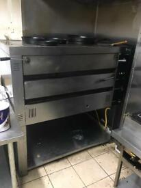 Extra large fage gas pizza oven