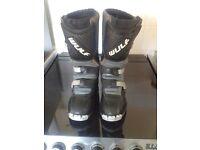 Kids Motorcross boots, Wulf, size UK 1-5 approx, Euro 34.