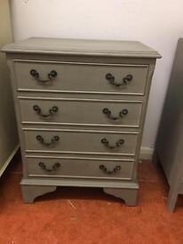Small vintage French Style chest of drawers bedside cabinet bedside cabinet