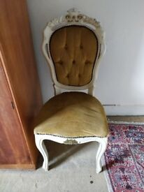 Beautiful upholstered antique chair