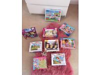 Used kids puzzles age 3-6 bundle - over 18 puzzles as some come with 3 or 4 in a box! Bargain!