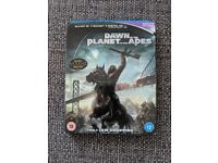 Dawn of the Planet of the Apes Blu Ray (2D/3D/Ultraviolet)