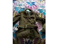 Brown Jacket and black coat
