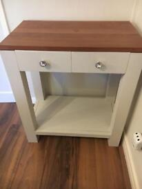 Oak console table shabby chic