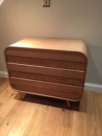 Made Chest of Drawers in Solid Ash