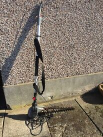 Electric hedge cutter with extendable pole