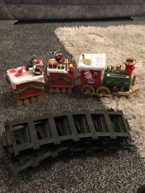 Christmas train on track