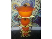 Vintage Metal Pan Stand Perfect for Le Creuset
