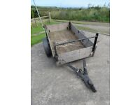 6ft X 4ft wooden trailer with tailgate and ladder bar, excellent condition