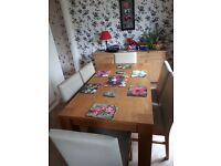 Dining table & 6 chairs.