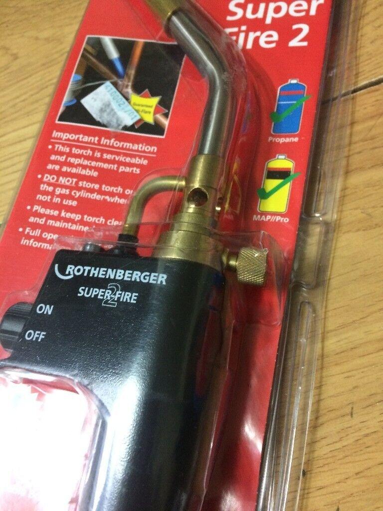 Rothenberger Super Fire 2 Blow Brazing Torch Welding Brazing Soldering Plumbing