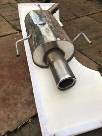 Vauxhall Corsa C 1.4 2000-2006 Scorpion Imola exhaust backbox
