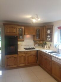 full kitchen ready for collection includes hub dishwasher fridge freezer for quick sale bargain
