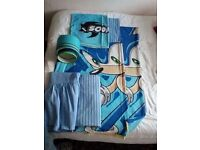 Children's bed linen bundle and matching lampshade Sonic the hedgehog from Next