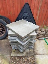 2x2 concrete slabs. X 12