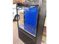 Cleair Pacific 315 Tank & Cab Black marine tropical fish tank aquarium room divider (delivery)