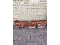 12 Weathered Terracotta Planters