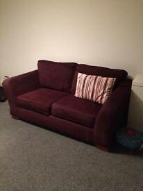 Purple 2 seater sofa