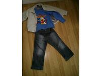Boy next coat bundle 4-5 age , bob the builder top