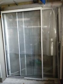 2 white SH pairs of double glazed doors