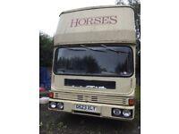 1990 7.5t Bedford TL 8-14 Horsebox 135k miles