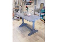 Shabby Chic Dining Table Painted in Annie Sloan Old Violet