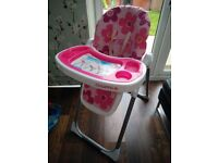 Cosatto Noodle Highchair- Daisy Disco. 006335