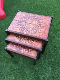 Vintage nest of tables - possibly toften