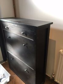 Shoe Storage cabinet with 2 compartments