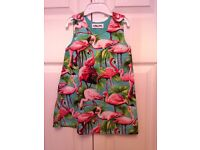 Flamingo print dress (2-3 yr). Unworn.