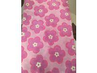 Pink Flower Rug - Great Little Trading Company - girls bedroom size: Length: 153cm Width 92cm