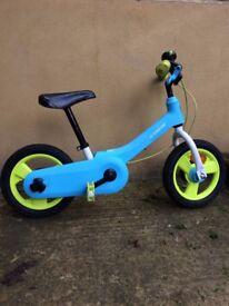 "children's balance bike converts pedal 12"" inch decathlon b'twin"