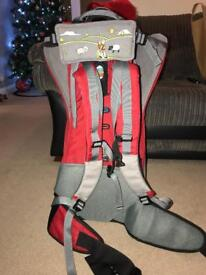 Bushbaby lite baby carrier in excellent condition with rain cover and sunshade