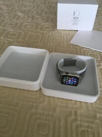 Apple watch 42mm stainless steel in excellent condition. With original accessories and box