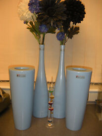 blue ornament vases household decorations