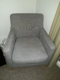 Grey Ikea Arm Chair