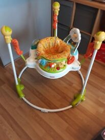 Jumperoo and play booster seat