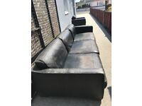 Lge black corner sofa